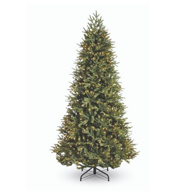 NOMA CTI1517108 7.5 Foot Piedmont Fir Artificial 2793 Branch Tips Prelit with 1000 Warm White LED Lights Holiday Christmas Tree, Green