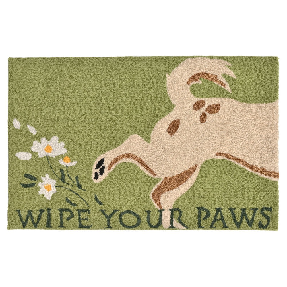 """Image of """"Frontporch Indoor/Outdoor Wipe Your Paws Rug 30""""""""X48"""""""" Green - Liora Manne, Size: 2'6""""""""X4'/30""""""""X48"""""""""""""""
