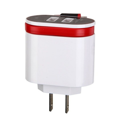 MYBAT Micro USB Travel Charger with Dual USB Ports(3.1A), White - image 1 of 4