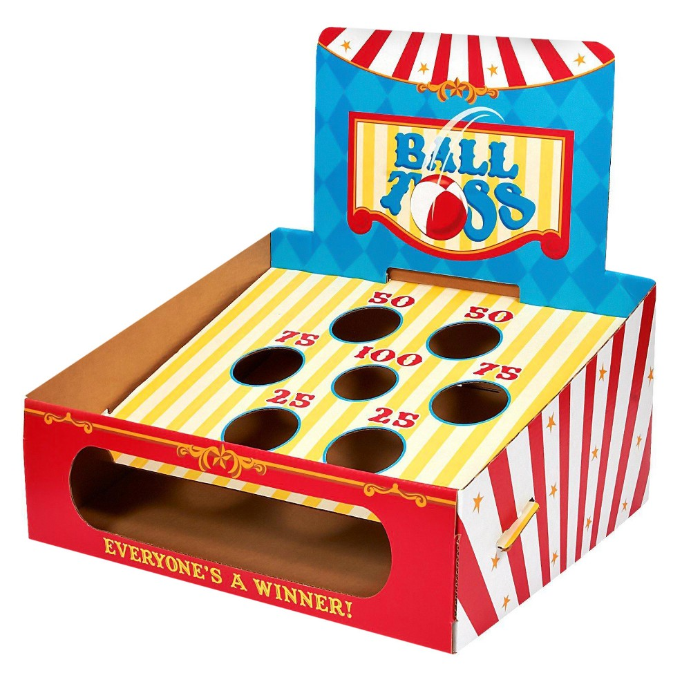 Carnival Ball Toss Game, Multi-Colored