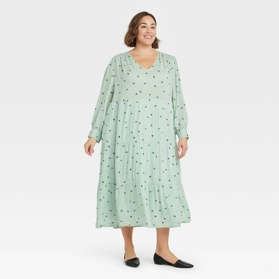 Women's Long Sleeve Tiered Dress - A New Day™