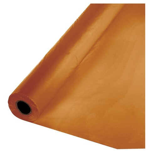 Pumpkin Spice Orange Plastic Banquet Roll - image 1 of 1