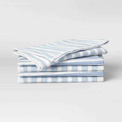 5pk Cotton Kitchen Towels Blue - Threshold™