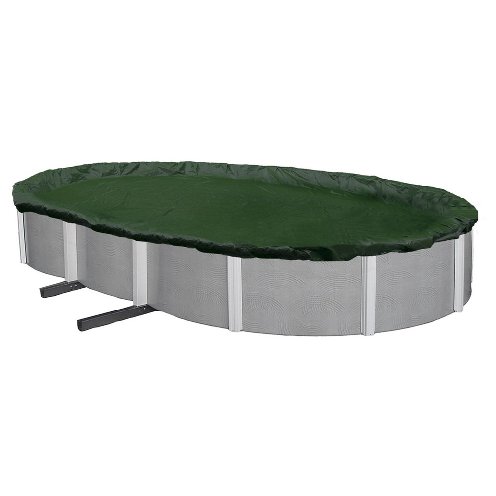 Blue Wave Silver 12-Year 12-ft x 24-ft Oval Above Ground Pool Winter Cover, Multicolored