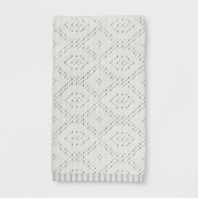 Striped Diamond Bath Towel Sour Cream - Threshold™