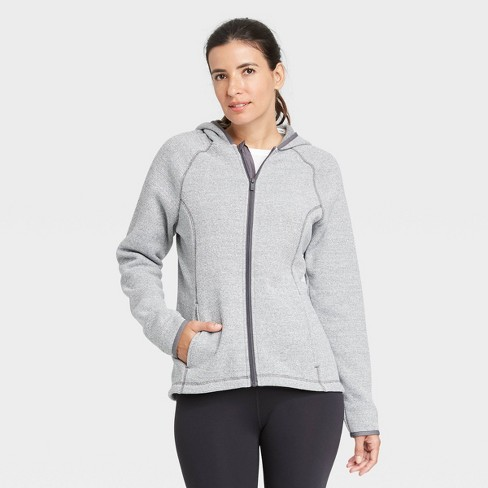 Women's Sweater Fleece Jacket - All in Motion™ - image 1 of 4