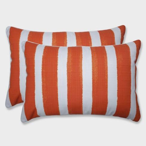 2pk Oversize Nico Marmalade Rectangular Throw Pillows Orange - Pillow Perfect - image 1 of 1
