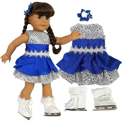 Dress Along Dolly Ice Skating Outfit for American Girl Doll