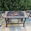 Rectangle Ceramic Tile Fire Pit - Copper - Leisurelife - image 2 of 4