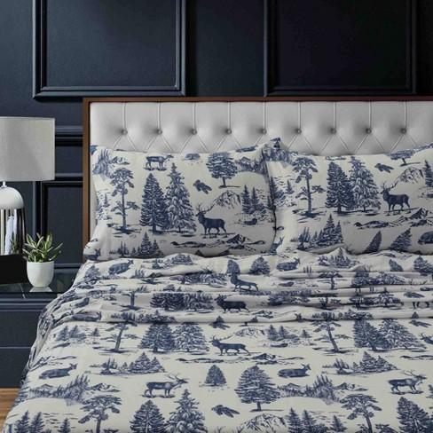 Printed Pattern Extra Deep Pocket Heavyweight Flannel Sheet Set Tribeca Living Target