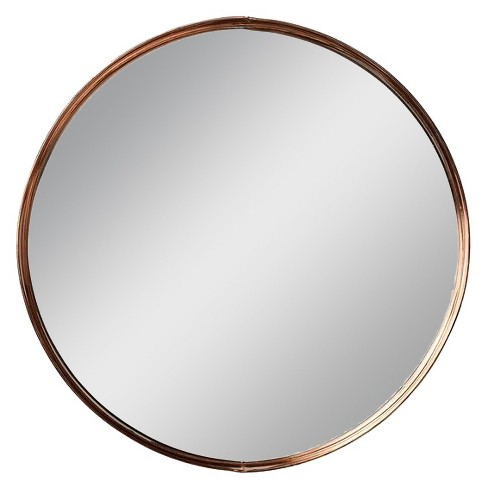 Copper Metal Framed Mirror with Ball Feet - 3R Studios : Target