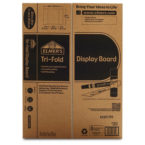 elmers trifold corrugate project display board 28x40 target