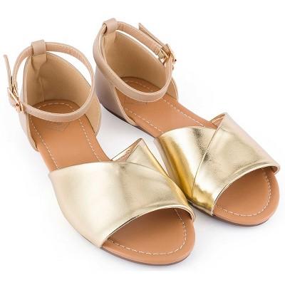 Gallery Seven - Women's Ankle Open Toe Strap Sandals
