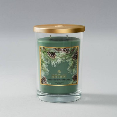 Glass Jar Frosted Siberian Pine Candle - Home Scents