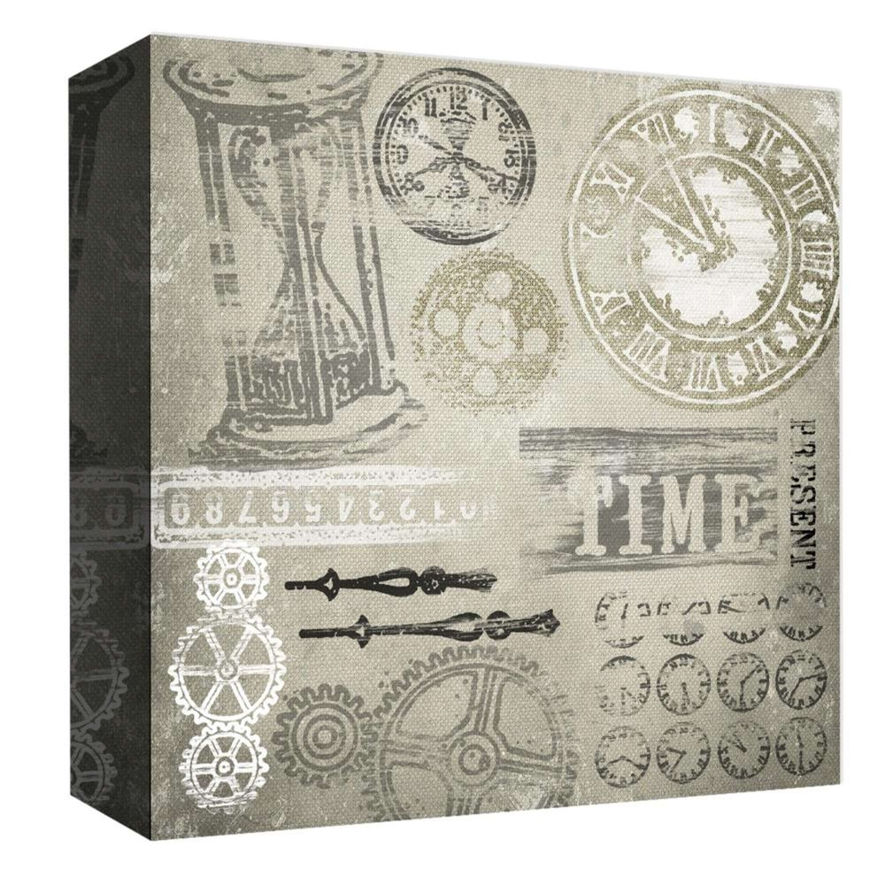 Best Time Through Time Decorative Canvas Wall Art 16x16 Ptm Images Multi Colored