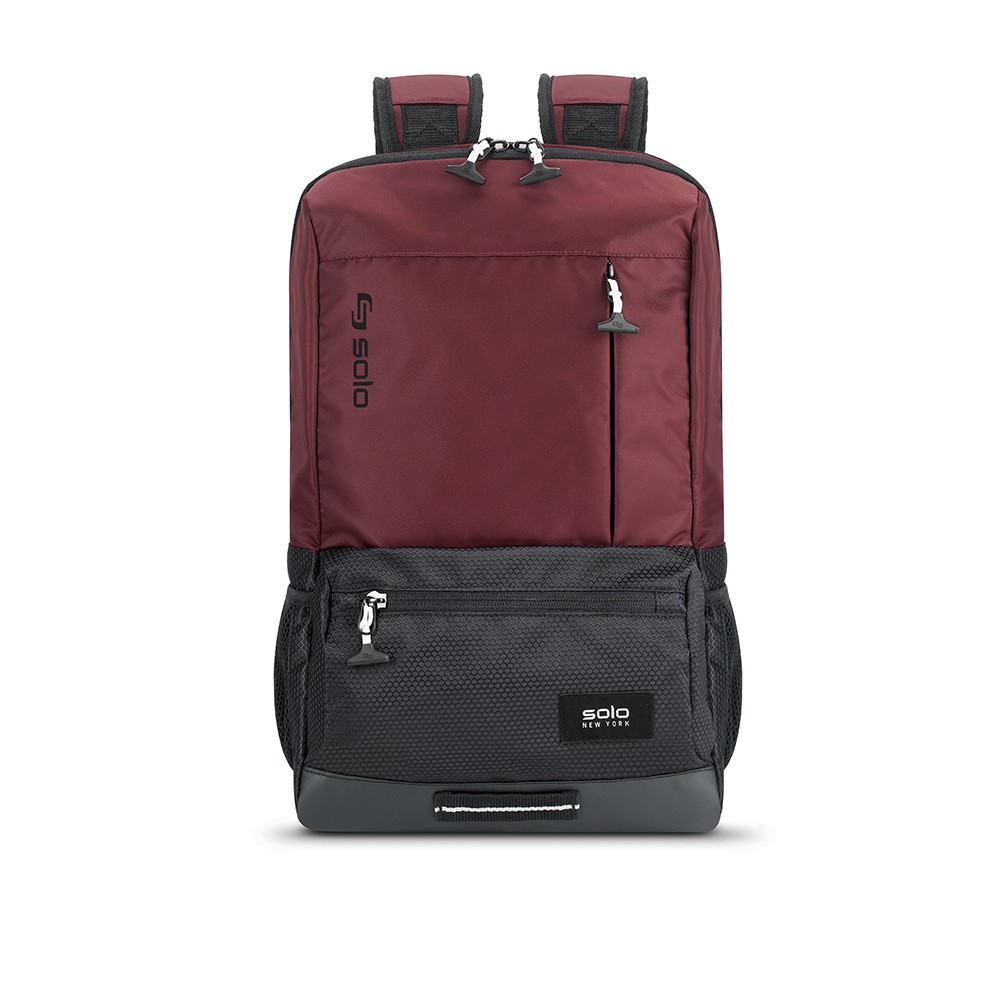 "Image of ""Solo 18"""" Draft Backpack - Burgundy, Red"""