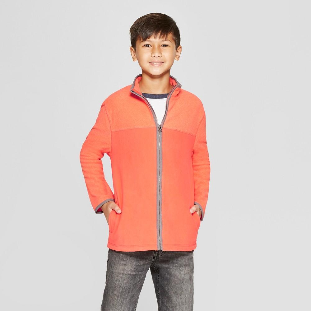 Boys' Fleece Zip-Up Sweatshirt - Cat & Jack Orange XL