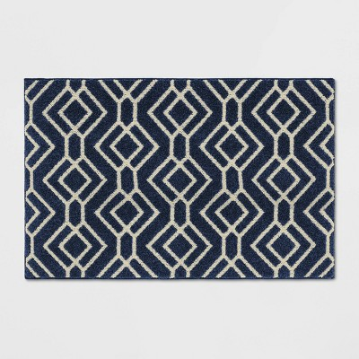 "30""X46"" Carthage Geo Easy Care Rug Blue - Threshold™"