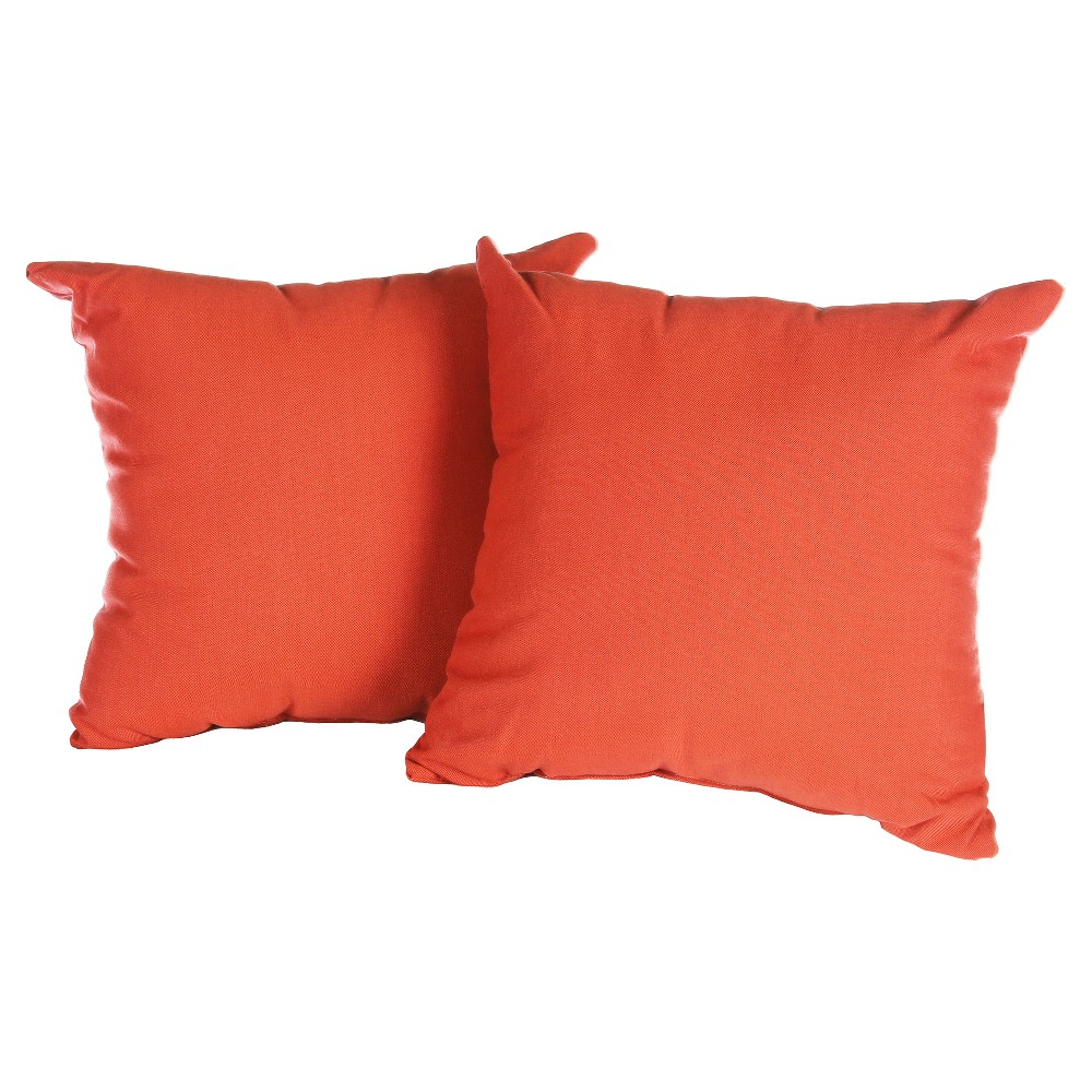 "Image of ""Pillow in Spectrum 16"""" x 16""""- Grenadine - AE Outdoor"""