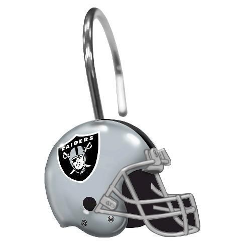 Northwest Oakland Raiders Shower Curtain Rings Target