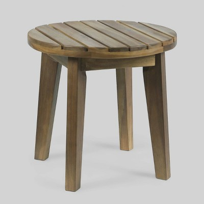 """Gertrude 16"""" Acacia Wood Side Table - Gray - Christopher Knight Home"""