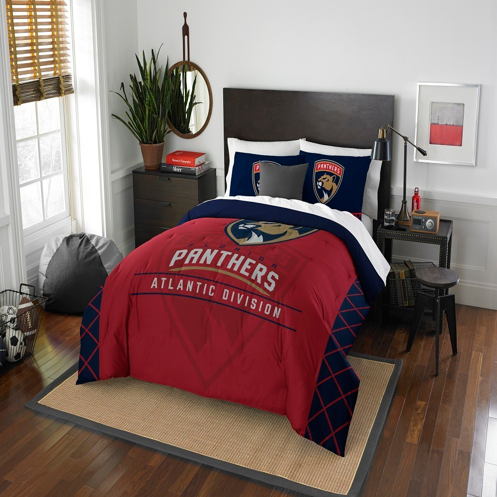 NHL Florida Panthers Northwest Draft Full/Queen Comforter Set