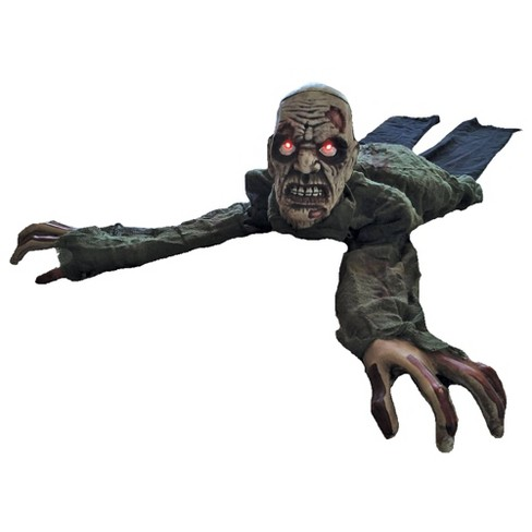 Crawling Zombie Animated Halloween Decorative Holiday Scene Props - image 1 of 1