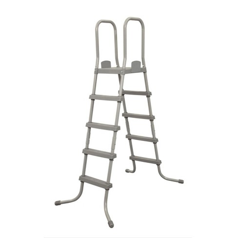 Bestway 58337E 52 Inch Steel Above Ground Swimming Pool Ladder No ...