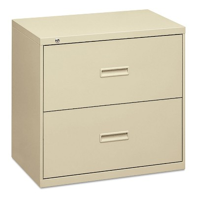 Basyx 400 Series Two-Drawer Lateral File 36w x 19-1/4d x 28-3/8h Putty 482LL