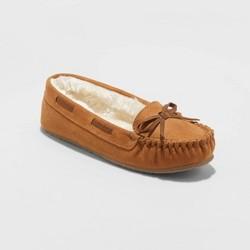 Girls' Cadi Mocassin Slippers - Cat & Jack™ Chestnut