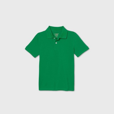 Boys' Short Sleeve Stretch Pique Uniform Polo Shirt - Cat & Jack™ Green
