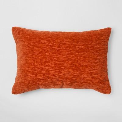 Orange Chenille Lumbar Throw Pillow - Threshold™