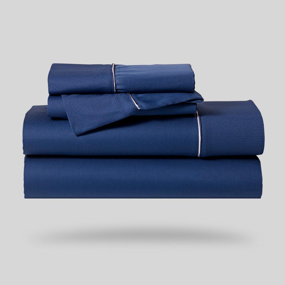 Image of Hyper-Cotton Performance Sheet Set (Twin) Navy - Bedgear