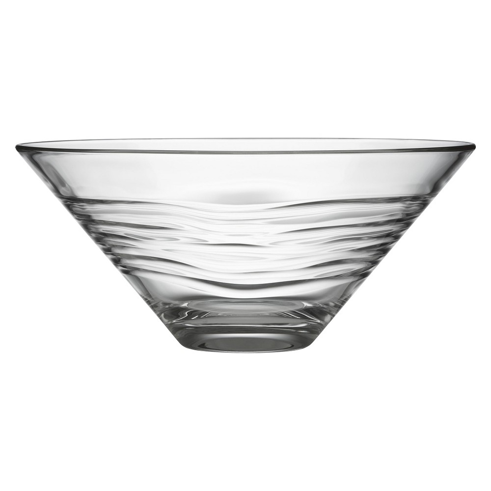 Kathy Ireland Home by Gorham Kahala Glass Serving Bowl 32oz, Medium Clear