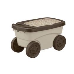 Suncast GDS200D 22.5 x 12.25 x 13 Inch Resin Multipurpose Garden Scooter Cart