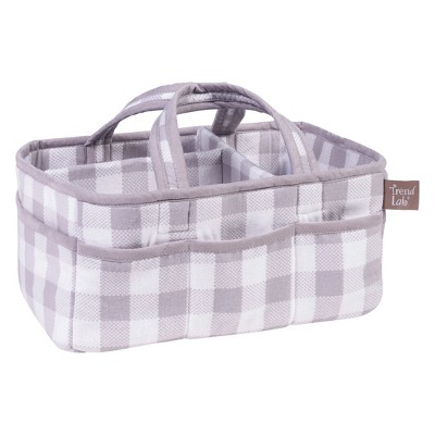 Trend Lab Storage Caddy - Buffalo Check - Gray and White