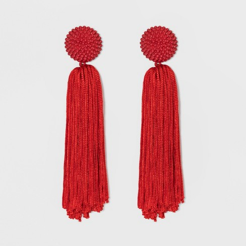 SUGARFIX by BaubleBar Tassel Drop Earrings with Beaded Studs - image 1 of 4