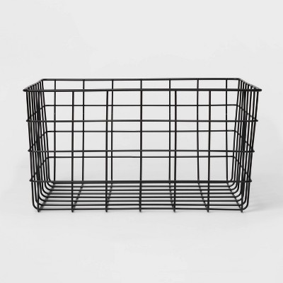 "13"" Decorative Baskets Steel Black Rectangular - Room Essentials™"