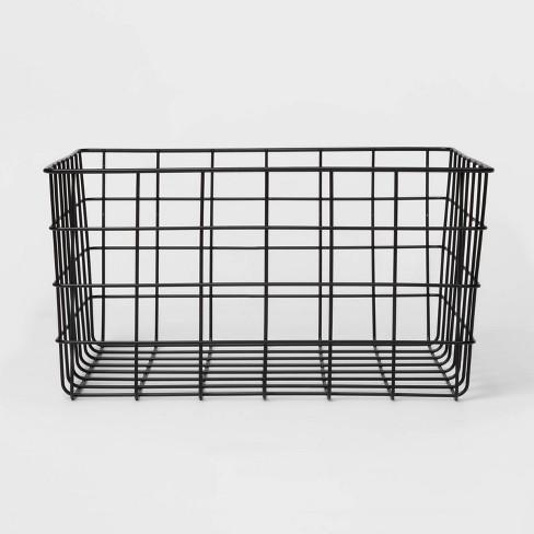 "13"" Decorative Baskets Steel Black Rectangular - Room Essentials™ - image 1 of 3"
