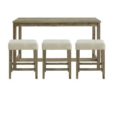 Turner Multipurpose Bar Dining Table Set Brown - Picket House Furnishings