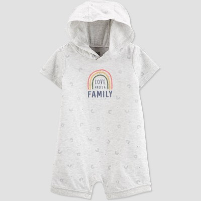 Baby 'Love Makes A Family' Romper - Just One You® made by carter's Gray 12M