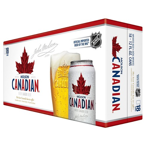Molson® Canadian Beer - 18pk / 12oz Cans - image 1 of 1