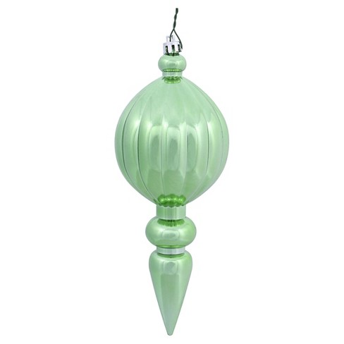 6ct Celadon Shiny Finial Drilled Christmas Ornament Set - image 1 of 1