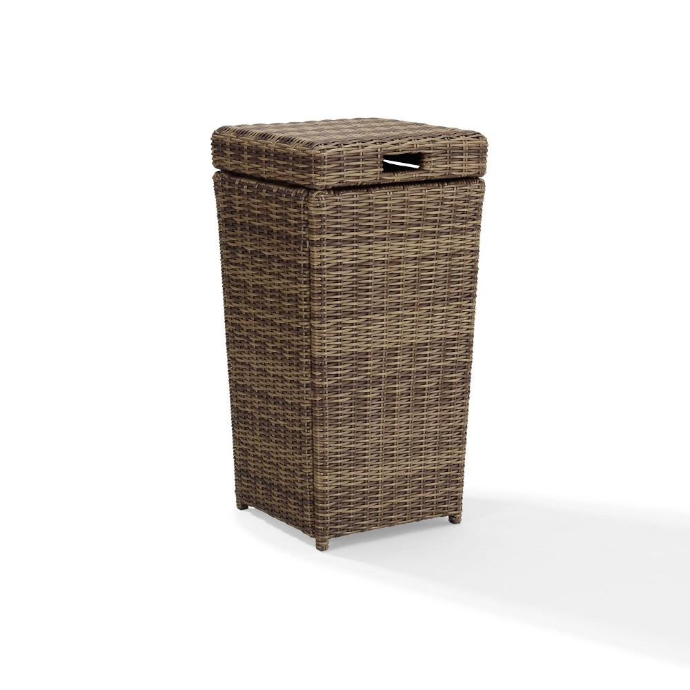 Image of Bradenton Outdoor Wicker Trash Can - Crosley