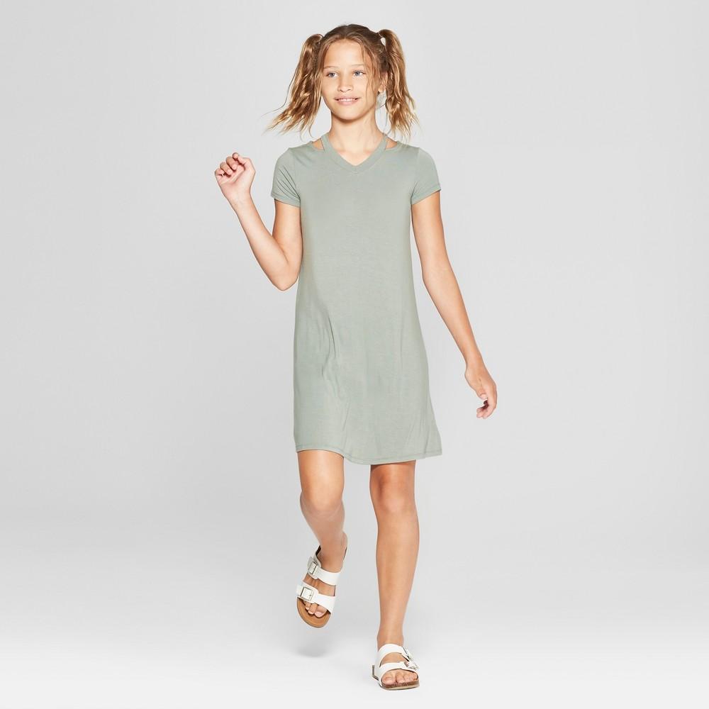 Girls' Cut Out Dress - art class Sea S, Blue