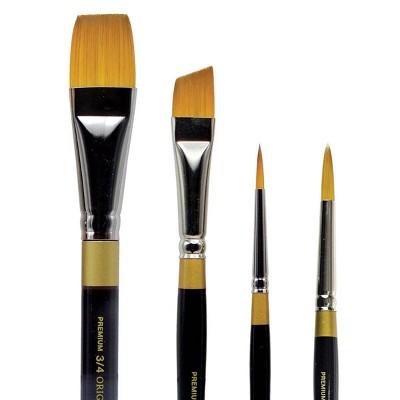 Kingart 4pc Original Gold Paint Brush Set