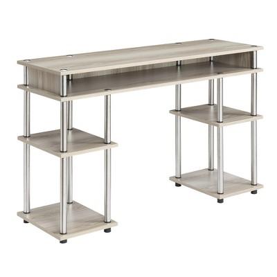 Designs2Go No Tools Student Desk Soft Sand Brown - Johar Furniture