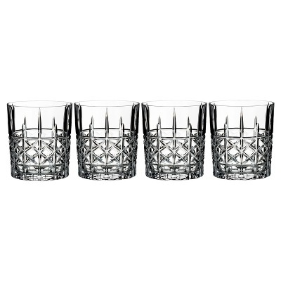 Marquis by Waterford Brady Crystal Double Old-Fashioned Glass 12oz - Set of 4