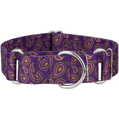 Country Brook Petz® 1 1/2 Inch Purple Paisley Martingale Dog Collar