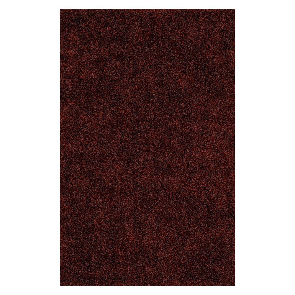 5'x7'6 Lustrous Shoestring Shag Area Rug Paprika (Red) - Addison Rugs